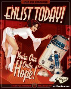 Star Wars Propaganda Pin-Ups by Ant Lucia.