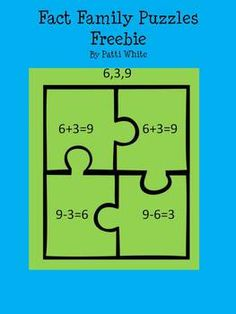 Fact Family Puzzles Freebie