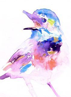 Print of Watercolor Painting Bird Call 16 x 20 by ArtbyJessBuhman, $39.95
