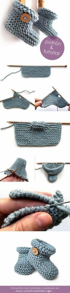 + Knit Baby Booties with Pattern Simple Knitted Baby booties with Free Pattern. 40 + Knit Baby Booties with…Simple Knitted Baby booties with Free Pattern. 40 + Knit Baby Booties with… Baby Knitting Patterns, Knitting For Kids, Baby Patterns, Free Knitting, Knitting Projects, Knitting Ideas, Crochet Projects, Simple Knitting