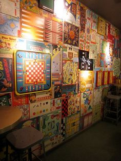 A gameboard wall! And this will be his man cave.