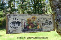 Vintage Barn Wood Gardening Sign Country Kitchen Decor