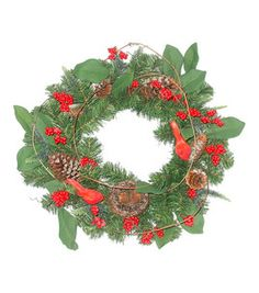 Holiday Inspirations- Bird Nest Berry Leaves & Pinecone Pine Wreath : floral : crafts :  Shop | Joann.com