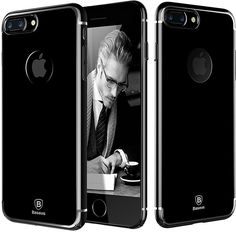 IPhone 7 Plus Case [Glitter] [Electroplating] [Metallic Finishing] [Scratch Resist] [Shockproof] Ultra Slim Case Cover for Apple IPhone 7 Plus - Jet Black: Cell Phones & Accessories