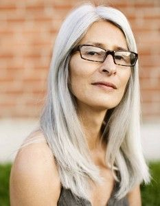Long Hairstyles for Older Women with Glasses