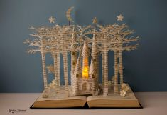 Fairytale Castle - Book Sculpture - Book Art - Altered Book - Made to Order by MalenaValcarcel on Etsy https://www.etsy.com/listing/229670526/fairytale-castle-book-sculpture-book-art