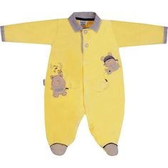 Macacão Plush para Bebê Menino Amarelo - Sonho Mágico :: 764 Kids | Roupa bebê e infantil