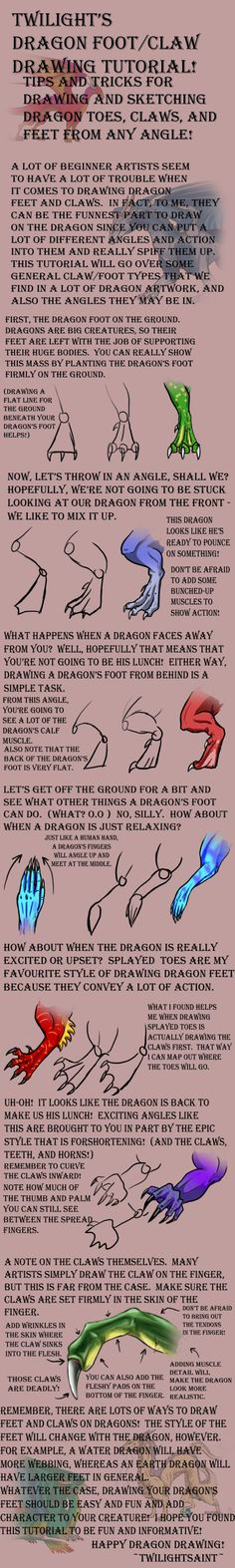 Tutorial - DRAGON FEET by TwilightSaint.deviantart.com on @deviantART