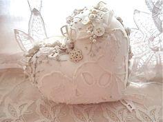 Romantic Valentine heart pillow...