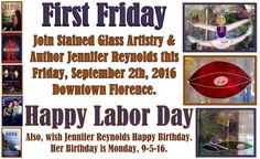 Join me this Friday night for First Fridays Downtown Florence with Stained Glass Artistry. https://www.facebook.com/events/1125099350903733/