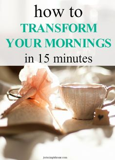 Mornings set the tone for the day, don't they? Learn how to set simple routines throughout your day to gain time and increase productivity, while creating peace and order in your home.