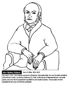 American Presidents John Adams Coloring Pages and Colouring