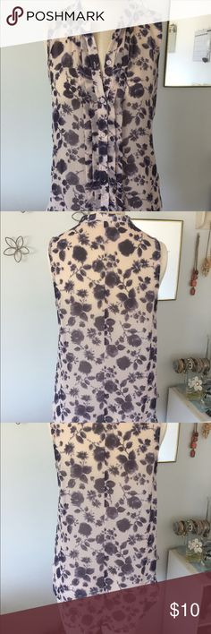"""Flowy button up blouse Purple, flowy button-up blouse. Blouse is longer in the back. There are several """"pulls"""" around the stitching and buttons, but it is hardly noticeable when the shirt is worn. Lush Tops Blouses"""