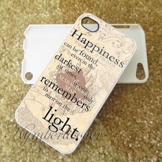 happyness quote harry potter custom case  for iphone 4/4s/5/5s/5c,samsung galaxy s3/s4 ipod touch 4 and iPod touch 5 on Etsy, $13.99