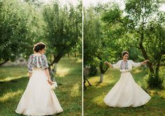 Iulia-Andrei-traditional romanian wedding_land of white deer - Lombn Sites Wedding Dress Sleeves, Bridal Wedding Dresses, Romanian Wedding, Russian Wedding, Traditional Wedding, Traditional Dresses, Eslava, The Bride, Boyfriends