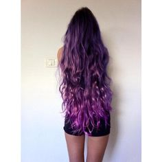 Purple Hair ❤ liked on Polyvore featuring hair, hair styles and purple hair