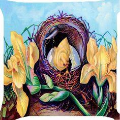 Easter chicks hatch egg ribbon flower funny pillow cushion cover handmade 2 side #handmade