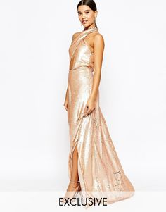 GREAT second dress at reception! Club L Showstopper 2 Tone Sequin Maxi Dress
