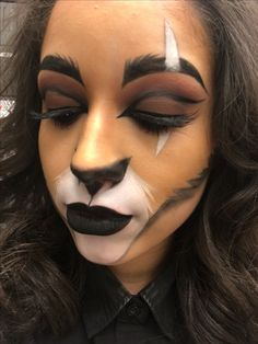 My Halloween makeup of Scar from the Lion King.