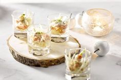 Forelcocktail met appel en knolselder - Toes Tutorial and Ideas Party Food And Drinks, Snacks Für Party, I Want Food, Love Food, Yummy Drinks, Yummy Food, Savory Snacks, Different Recipes, Recipes