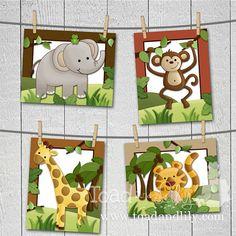 Conjunto de animales del Safari de selva 4  elefante León