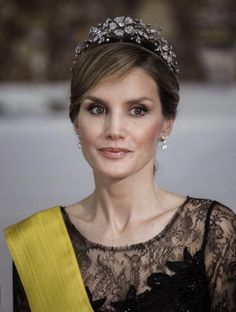 Princess Letizia of Spain attends a Dinner in honour of Mexican President Enrique Pena Nieto at The Royal Palace on June 9, 2014 in Madrid, Spain.