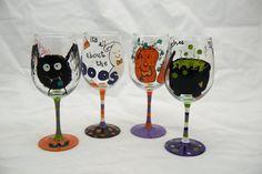 Pumpkin Juice Wine Glass by TheSparkleFairies on Etsy