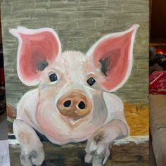 Pig painting. In honor of summer and all things fair.