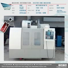 Superb Used Victor VMC Machine Available In Ahmedabad . Machine: Victor VMC  Machine MC: VMC Make: Victor Taiwan Model: V Centre 85 Year: 2016 (2000)  Control: ...