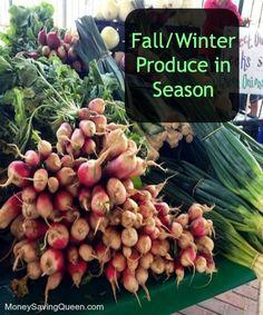 Fall/Winter Produce in Season - MoneySavingQueen - September 2014