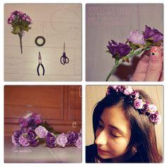 DIY flower crown easy http://do-love-lovedoign.blogspot.com/