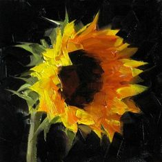 """""Sunflower Study 4"" - Original Fine Art for Sale - © Qiang Huang"