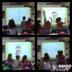 Subtraction fluency & fitness helps students get the wiggles out while practicing on math facts!