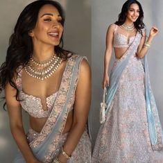 Kiara aka Preeti proves no one slays desi style like she does! Indian Prom Dresses, Indian Fashion Dresses, Wedding Dresses For Girls, Wedding Dress Trends, Indian Wedding Outfits, Indian Designer Outfits, Indian Outfits, Designer Dresses, Indian Fashion Trends