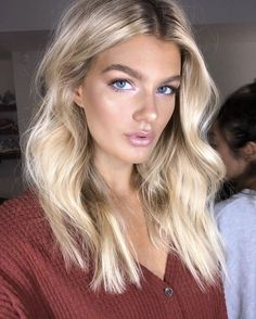 Blonde Hair Looks, Brown Blonde Hair, Blonde Wig, Wavy Hair, Perfect Blonde Hair, Blonde Honey, Honey Balayage, Balayage Hair, Cheveux Beiges