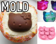 Hello Kitty Mold Food Grade Silicone Moulds for by ExcellentForm, $11.99