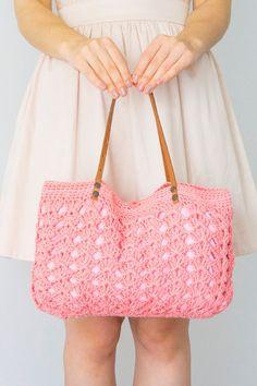 Handbag Tote Purple Bag Crochet Bag Handbag Summer Bag Leather Bag Leather Tote…