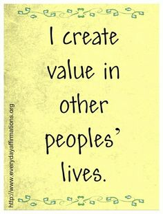 value affirmation