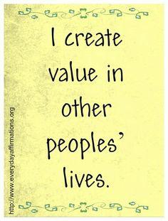 value affirmation