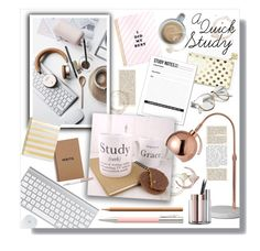 """A Quick Study..."" by clovers-mind ❤ liked on Polyvore featuring interior, interiors, interior design, home, home decor, interior decorating, Kate Spade, Faber-Castell, Sugar Paper and Retrò"