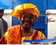 Hadja Satu Camara, segunda vicepresidenta del Paigc(Guinea-Bissau).- El Muni.