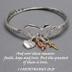 Womens Religious Silver Bible Verse Corinthians, Scriptural Faith, Hope & Love Bracelet with Silver Gold & Copper Color Cross Heart and Fish Charms WT001,http://www.amazon.com/dp/B0058V4PSO/ref=cm_sw_r_pi_dp_T4vttb17KC0QBP8E