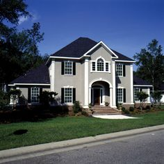 Large open spaces add grandeur to this Luxury home.  Luxury House Plan # 111035.