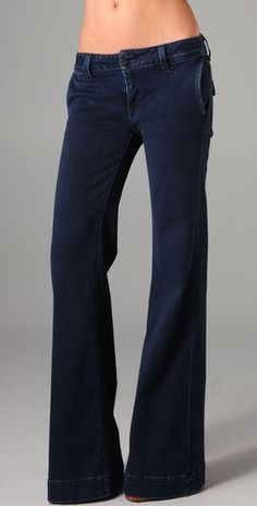 I love you, dark-wash wide-leg trouser jeans!   Hudson Wide Leg Trouser Jeans, $176