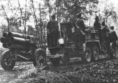 Hungarian 15cm rocket launcher and crew