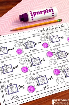 February NO PREP Pages {Literacy and Math Activities for Kindergarten} – The Printable Princess - Value activa Kindergarten Math Activities, Word Work Activities, Health Activities, Kindergarten Classroom, Toddler Activities, Primary Classroom, Kindergarten Reading, Math Pages, First Grade Classroom