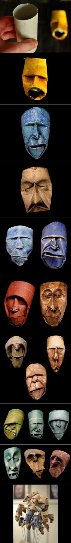 Brilliant masks out of toilet rolls