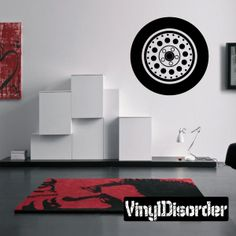 Tire Rim Wall Decal - Vinyl Decal - Car Decal - DC013