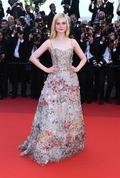 Elle Fanning In Christian Dior Couture – Cannes Film Festival 70th Anniversary Celebration 2017