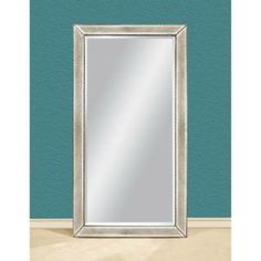 Check out the Bassett Mirror M2546B Beaded Leaner Antique Frame Floor Mirror priced at $663.60 at Homeclick.com.